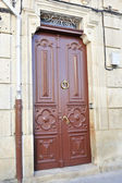 Large and stately wooden doors — Стоковое фото