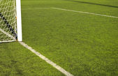 Small area on the soccer and football field — Stock Photo