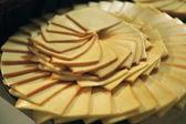 Sliced cheese tray — Stockfoto