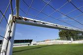 футбольная цель — Стоковое фото