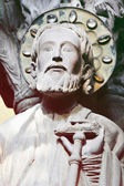 Stone sculpture of the Apostle Santiago — Stock Photo