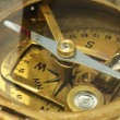 Bronze metallic old compass — Stock Photo #44120749