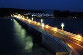 La Toja bridge in the night. — Foto de Stock