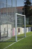 Football or soccer goal — Stok fotoğraf