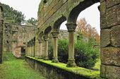 Baroque ruins monastery — Stockfoto