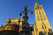 Seville cathedral and Giralda belltower monument — Stock Photo
