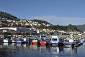 Corcubion village and harbor — Stock Photo