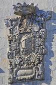 Coat of arms in granite — Stock Photo