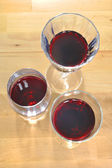 Red wines in crystal glasses — Foto Stock