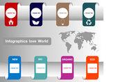 Infographics love World vector — Vecteur