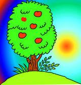 Tree on the landscape — 图库照片