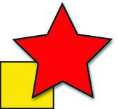Gwiazda & moduł — Zdjęcie stockowe