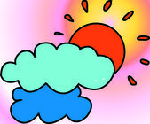 Sun & clouds — Zdjęcie stockowe