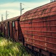 Stock Photo: Old railway red wagon