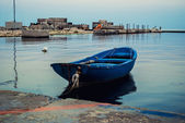 Little boat at the dock — Stock Photo
