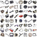 Set of car parts — Stock Photo