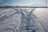 Camino nevado — Foto de Stock
