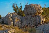 Makarska in warm sunlight - Stock photo — Stock Photo