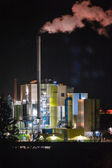 Night shot from a coal plant — Stock Photo