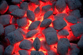 Hot grill charcoal — Stock Photo