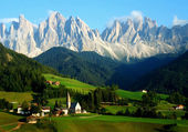 Sankta Magdalena, Dolomites South Tyrol, Italy — Stock Photo