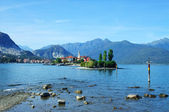 Landscape of the FIshermen Island, Lake Maggiore, Piedmont, Italy — Stock Photo