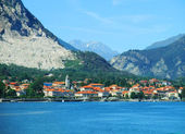 Panorama of Baveno. Lake Maggiore, Piedmont, Italy — Stock Photo