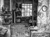 Degradation abandoned factory — Stock Photo