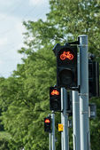 Red light for bicycles — Stock Photo