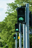 Green light for bicycles — Stock Photo