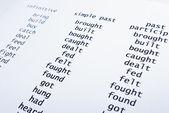 English irregular verbs — Stock Photo