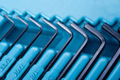 Allen hex keys — Stock Photo