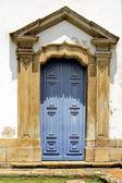 Porta azul — Fotografia Stock