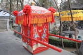 Chinese wedding sedan chair — Stock Photo