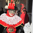 Masked woman in Venetian costumes — Stock Photo