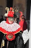 Masked woman in Venetian costumes — Foto de Stock