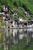 Hallstatt old town and lake — Stock Photo