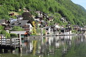 Hallstatt old town and lake, unesco world heritage in Austria — Stock Photo