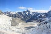 Snowy Jungfraujoch — Stock Photo