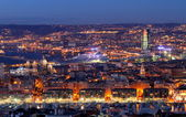 Night cityscape of Marseille — Стоковое фото