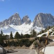 Dolomites alps viewed from Sella Pass — Stock Photo #45503081