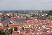 Panoramatický pohled starého města heidelbergu — Stock fotografie