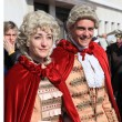 Couple in Venetian costumes at Venice carnival — Stock Photo #46962165