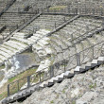 Roman theater ruins of Catania — Stock Photo #46987189