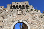 City gate leading to Taormina old town, Sicily — Stock Photo
