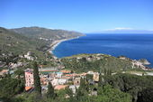 Taormina coastline, Sicily — Stock Photo