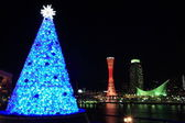Kobe night view with Christmas decoration — Stock Photo