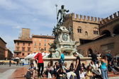 Piazza Maggiore in Bologna, Italy — Stock Photo