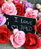 "Message of ""I love dad"" — Stockfoto"