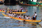 2014 Dragon Boat Race at Chai Wan bay — Stockfoto